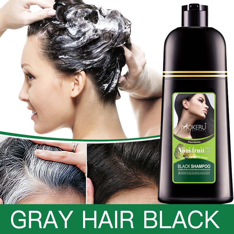 Organic Natural Fast Hair Dye Only 5 Minutes Noni Plant Essence Black Hair Color Dye Shampoo For Cover Gray White Hair недорого