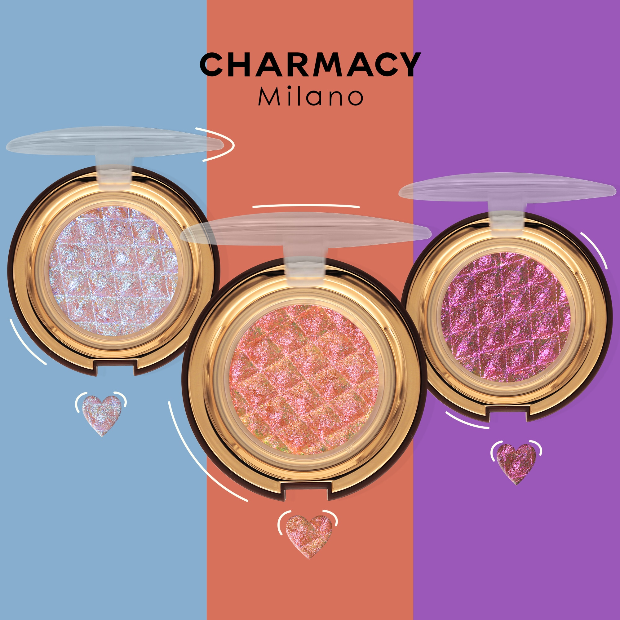 CHARMACY Shiny Eyeshadow Highlighter Make Up Contour Face Body Bright Cosmetic Chameleon Duochrome Glitter Eyeshadow Makeup