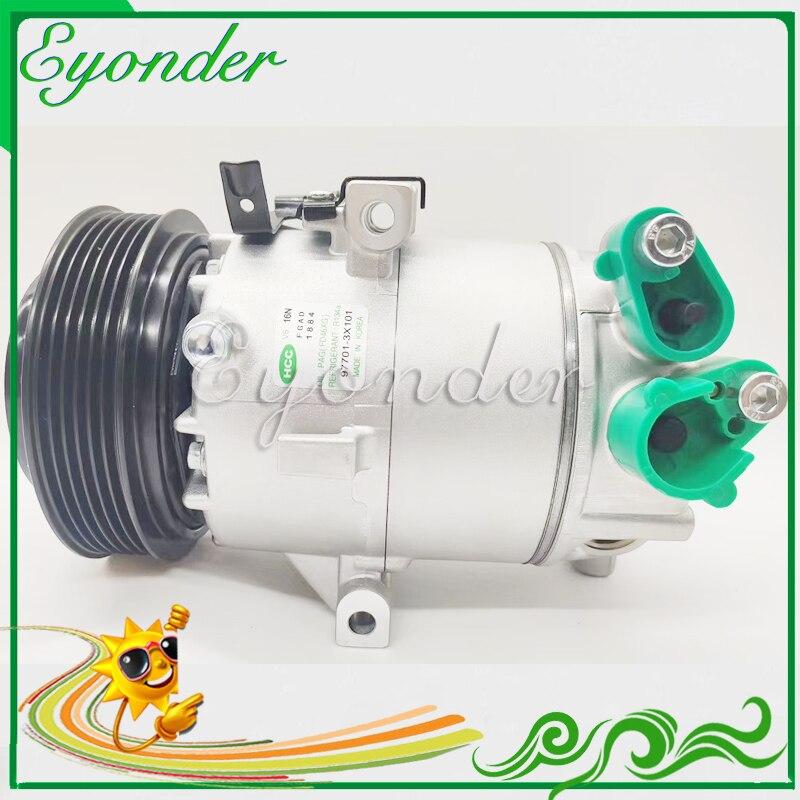 A/C AC compresor de refrigeración de aire acondicionado de la bomba de VS12 fluido para Hyundai ELANTRA KIA Soul 1,8 977013X101 97701-3X101 CO 11304C