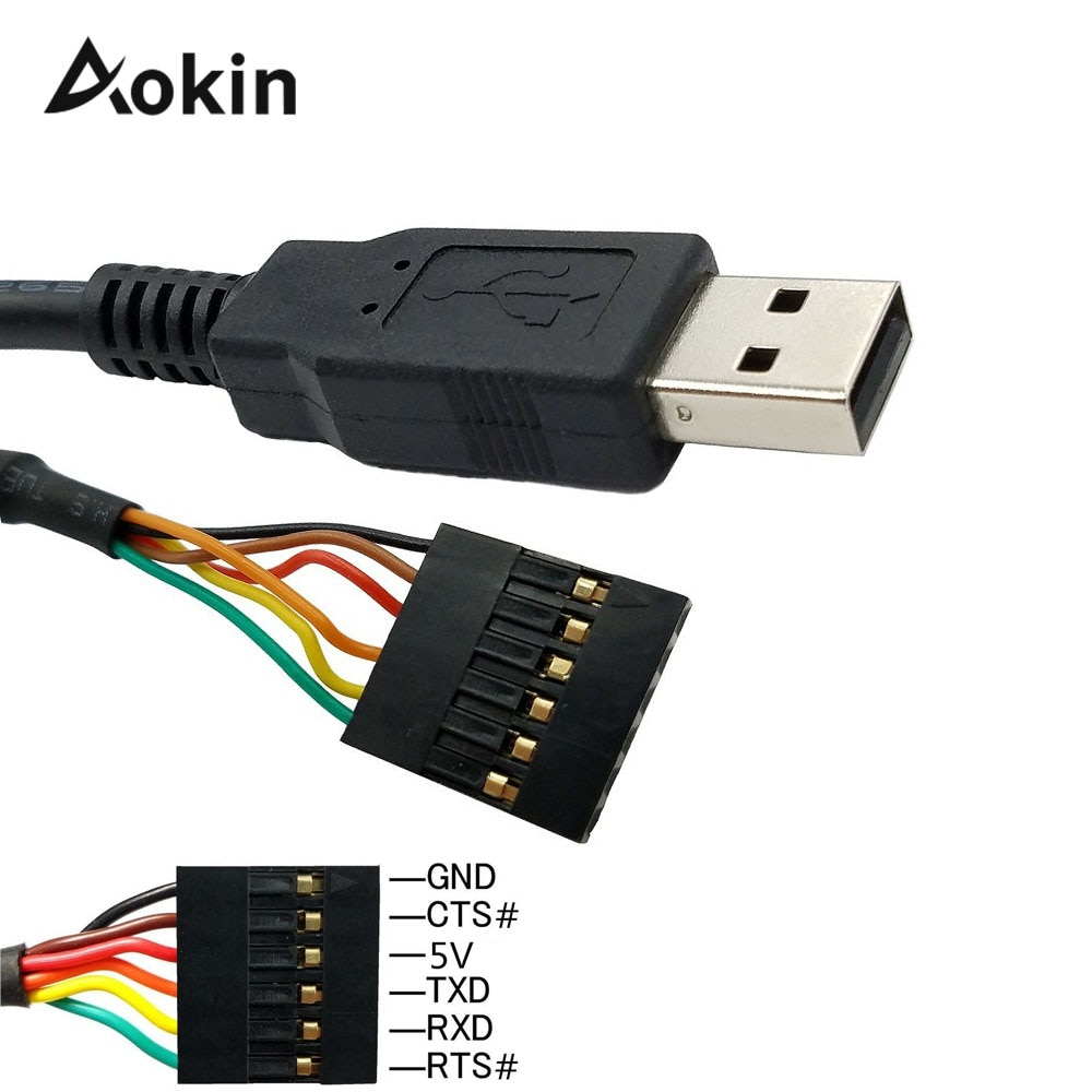 6-контактный переходник с внутренней FTDI FT232RL FT232 модуль для Arduino USB к TTL UART серийный провод адаптер RS232 скачать кабель модуля Minnowboard Max