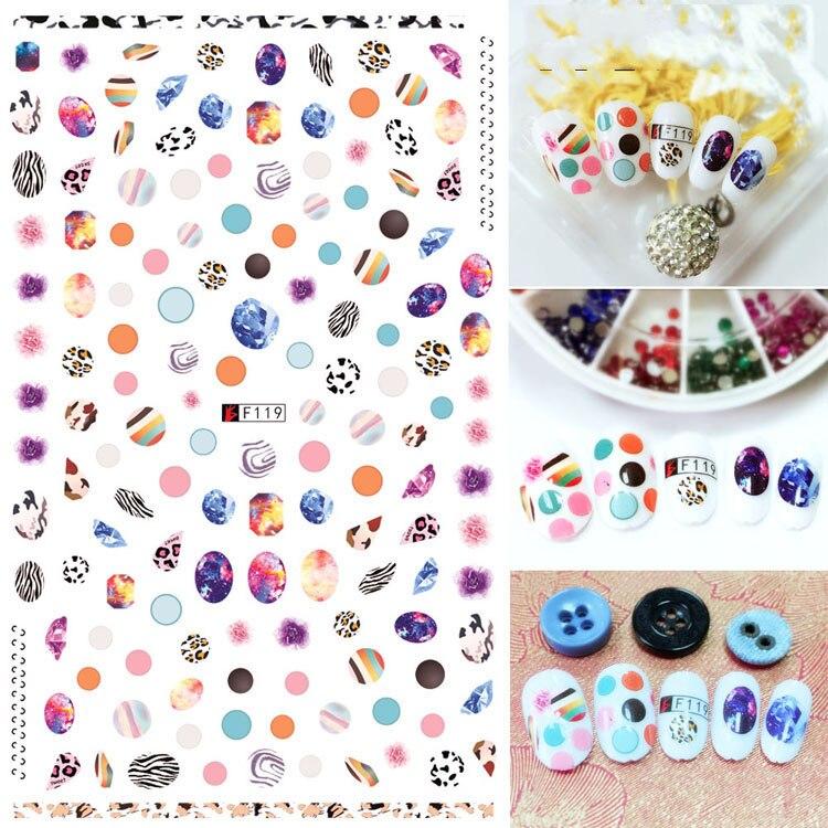 Autocollants 3D pour ongles couleur motif imprimé léopard dessins Nail Art décorations feuille décalcomanies manucure accessoires Decoraciones