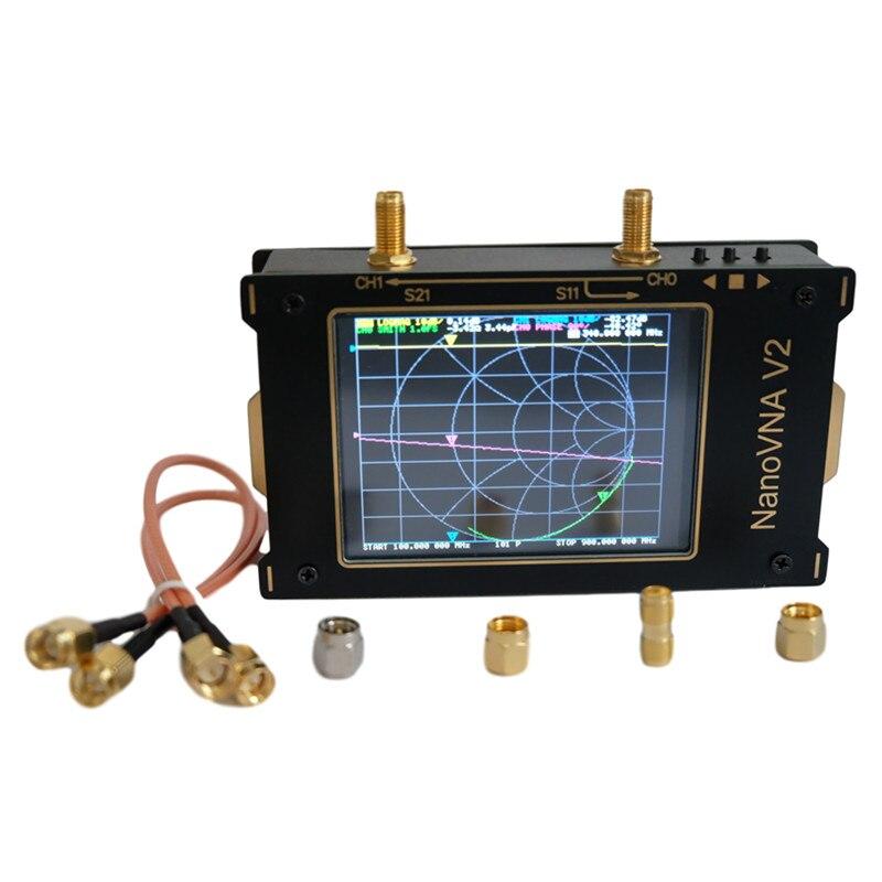 ¡Novedad! Pantalla LCD de 3,2 pulgadas 3G analizador de red vectorial 50KHz ~ 3GHz NanoVNA V2 Analizador de antena