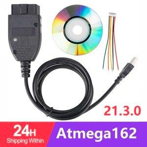 Image 1 - 5 шт./лот электрические тестеры 21,3 OBD2 16Pin диагностический Интерфейс для автомобилей VAG Group ATMEGA162 + 16V8 + FT232RL SKU:1st Multi 1962