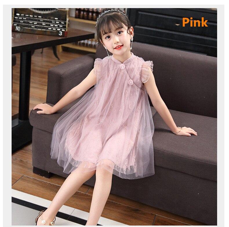 Vestido de verano para chica nuevo estilo retro para chico vestido de encaje
