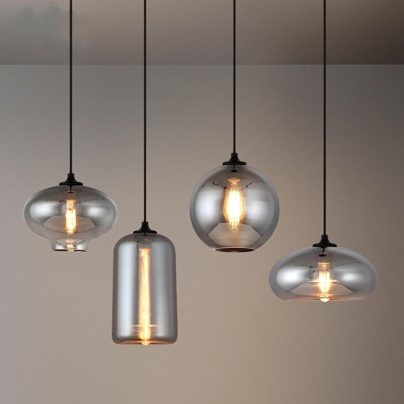 مصباح زجاجي معلق صناعي عتيق ، تصميم شمالي ، إضاءة زخرفية داخلية ، مثالي لغرفة الطعام أو غرفة النوم أو المطبخ.