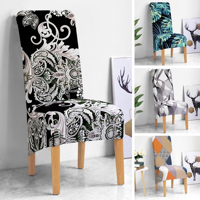 Цветочный принт, длинная задняя крышка для стула, европейский стиль, чехлы для сидений, чехлы на стулья для отеля, вечеринки, банкета, дома