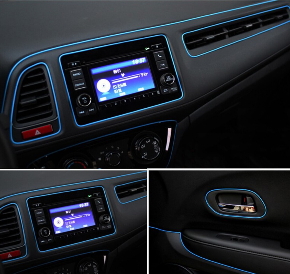 Coche-estilismo para el panel de mandos de tiras para Chevrolet Cruze Aveo Lacetti Captiva Cruz Niva chispa Orlando Epica navegar Sonic Lanos
