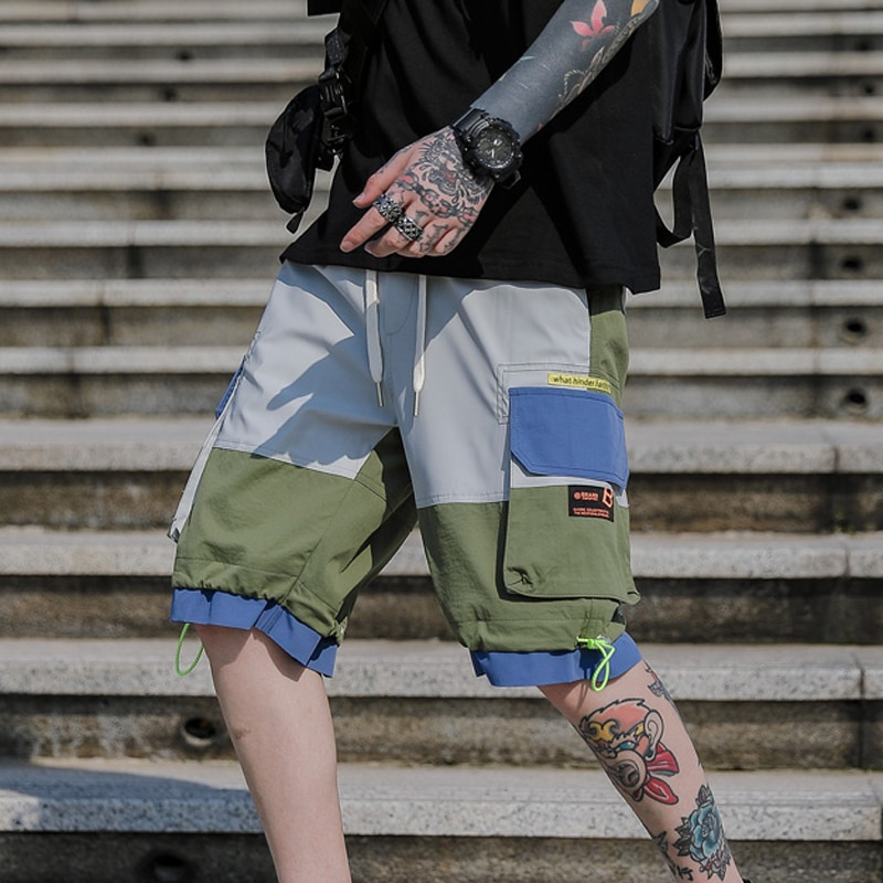 High Street Fashion Cargo Shorts Men 2020 New Casual Shorts Male Loose Work Short Pants Men Hip Hop Harajuku Shorts Joggers