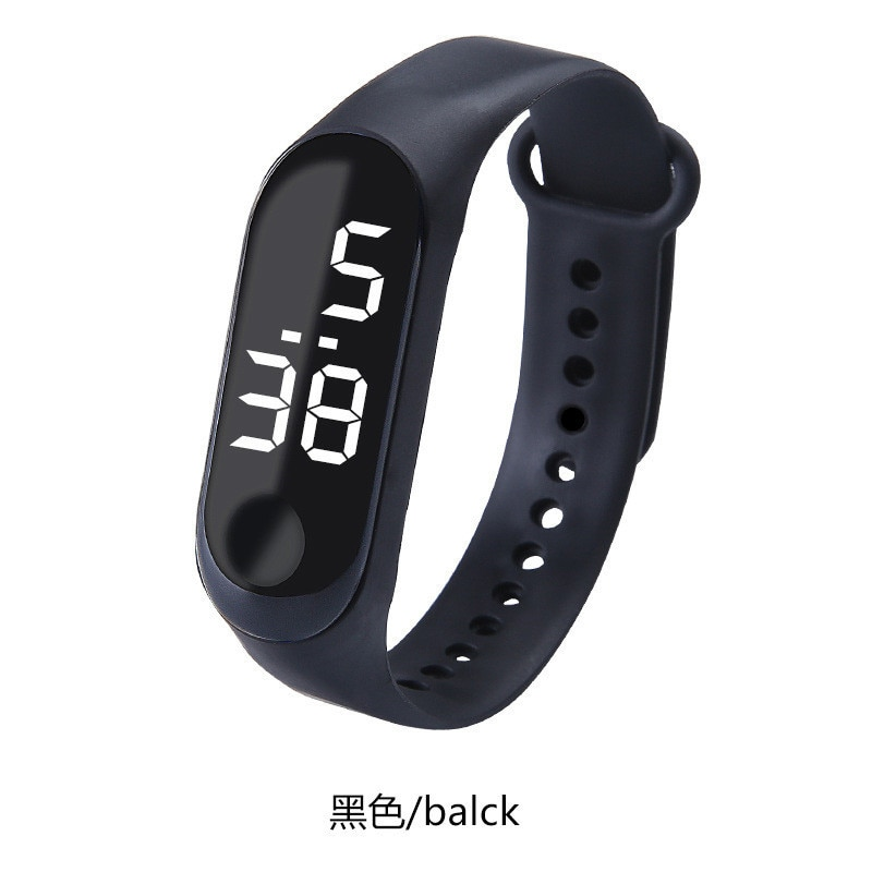 Reloj de pantalla digital LED reloj de moda para hombres y mujeres informal deportivo táctil electrónico reloj deportivo a prueba de agua reloj femenino