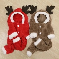 autumn winter dog jacket pet dogs costume christmas four legs hoodie coat thick clothing fleece warm dog clothes pet cat clothes