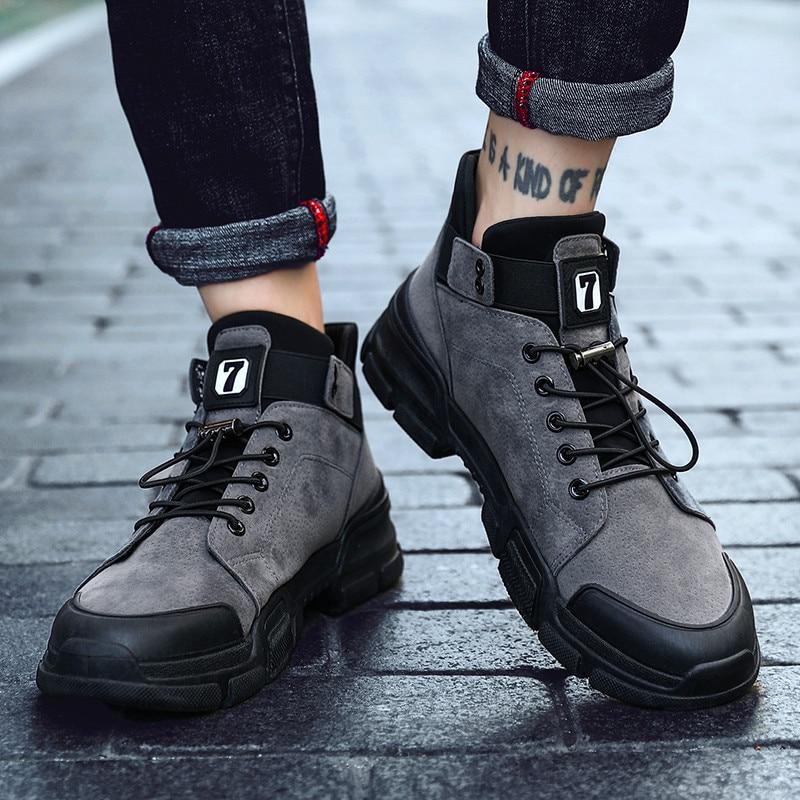Botas Martin clásicas con plataforma de fondo grueso de otoño e invierno, zapatos informales resistentes al desgaste para hombres, zapatos de moda de tendencia para exteriores