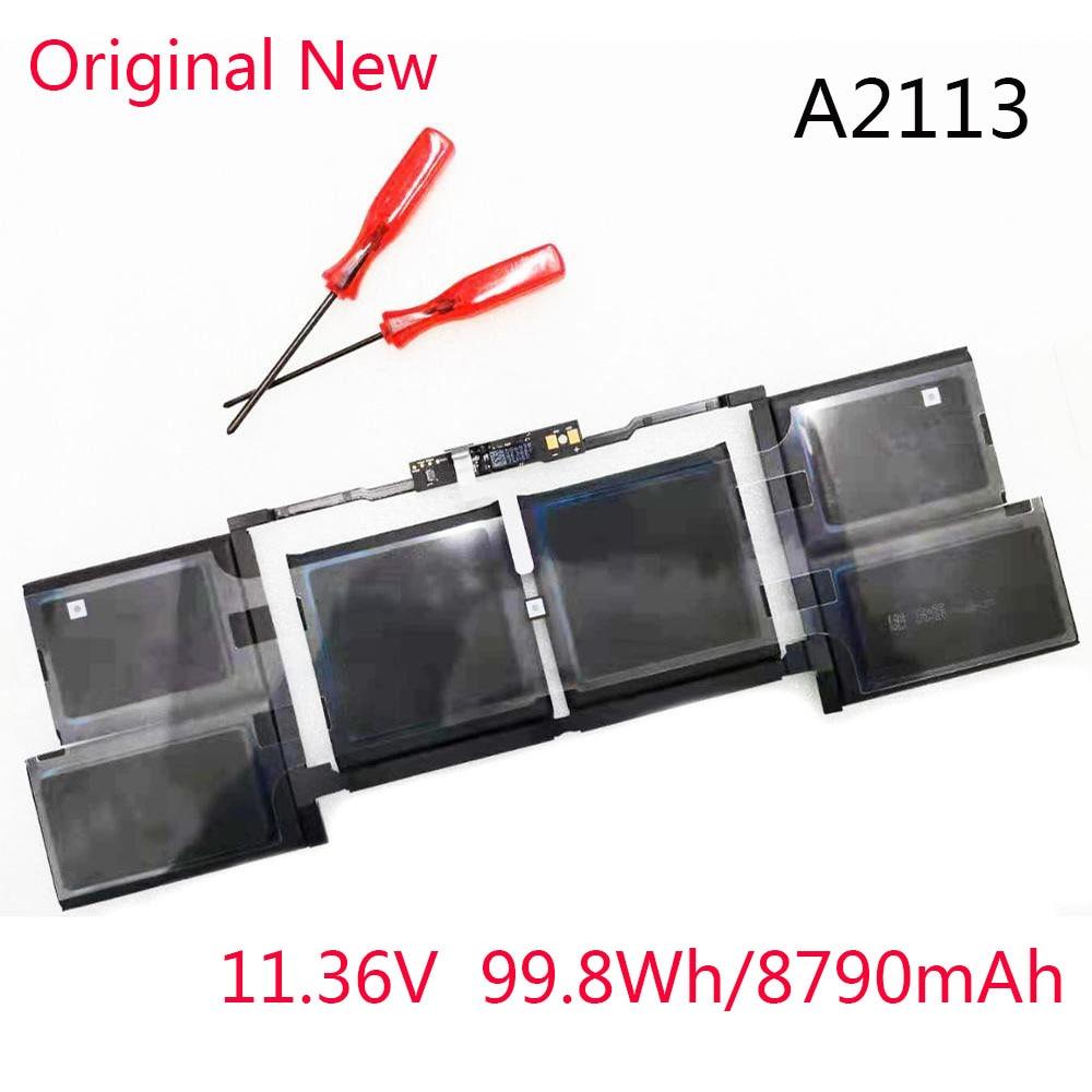 Get New Original Battery A2113 For Apple Macbook Pro A2141 16 Inch 2019 MVVJ2 MVVL2 MVVM2 610-00533 Batteries 11.36V 8790mAh/99.8Wh