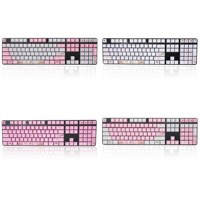 1 مجموعة استبدال OEM PBT 108 كيكابس صبغ التسامي غرار Keycap الميكانيكية لوحة المفاتيح