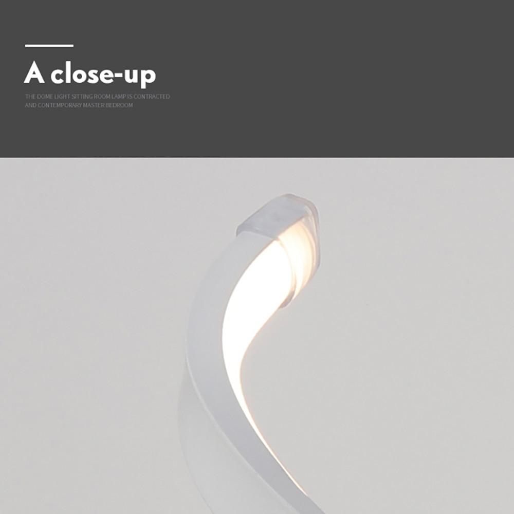 LED Spiral Table Lamp EU US Plug Acrylic Modern Curved Desk Bedside Lamps Dimmable For Living Room Bedside Reading Bedroom Light enlarge
