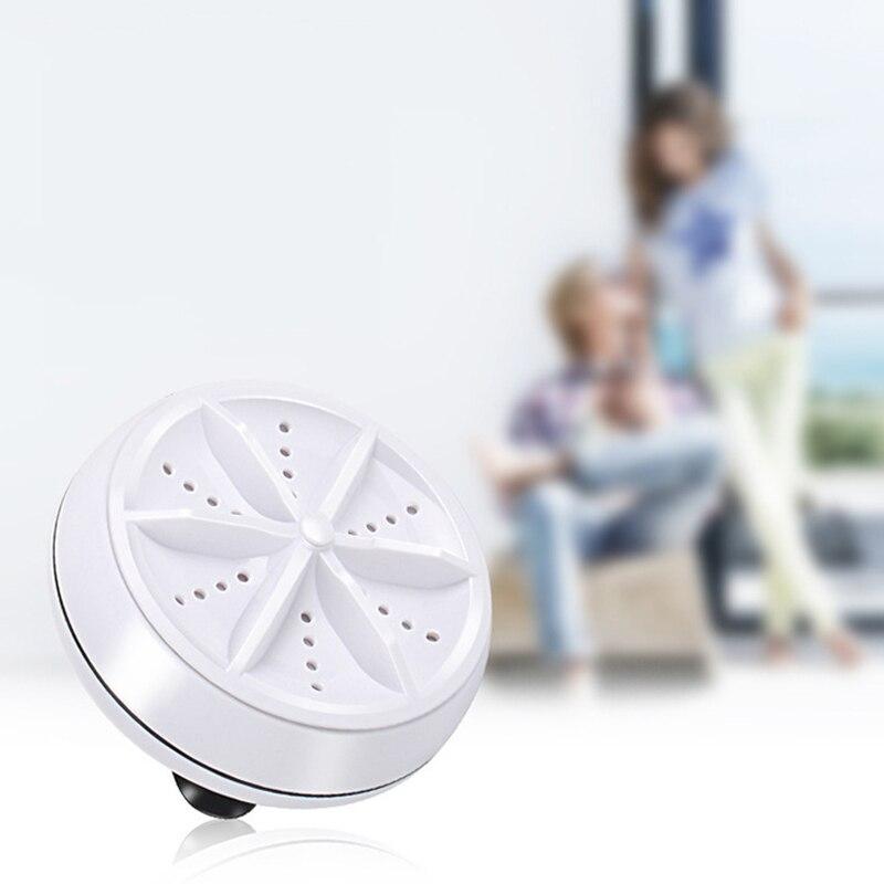 Многофункциональная ультразвуковая стиральная машина 9 см, Круглый Портативный мини-инструмент для очистки для путешествий и улицы, xobw