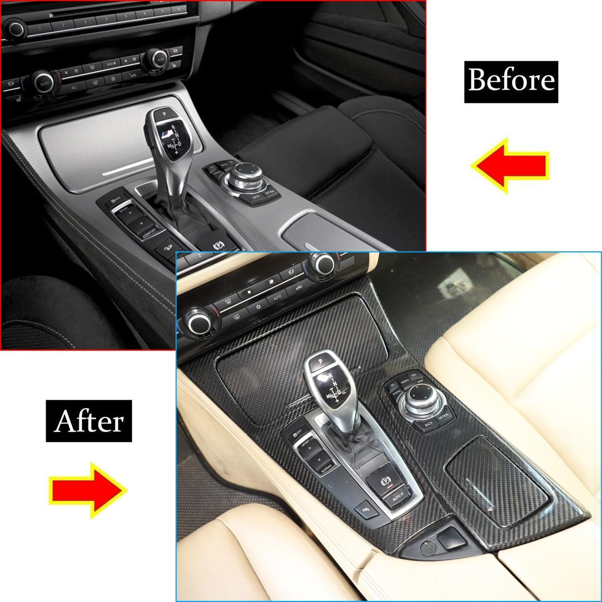For 2011-2017 BMW 5 Series F10 520li 525li 530li ABS car center console shift panel cover sticker interior accessories enlarge