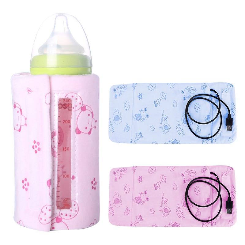 Novo usb leite aquecedor de biberões carro fralda alimentação alimentos isolados saco de isolamento térmico de calor acessórios de carrinho sacos