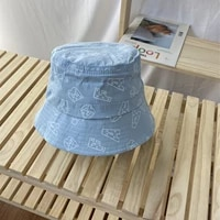 alphabetic print fisherman hat lady spring and summer thin bucket hat sunshade hat versatile leisure basin hat