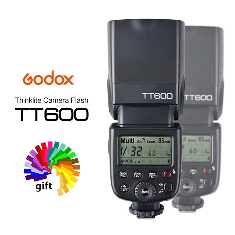 جهاز فلاش زناد لاسلكي من Godox طراز TT600 مدمج GN60 2.4G متوافق مع كاميرا Canon Nikon Sony Pentax Olympus Fujifilm