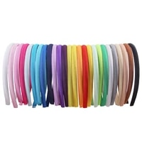 red blue green pink satin headband for women girls kids hair band solid color thin elastic hair hoop accessories headpiece