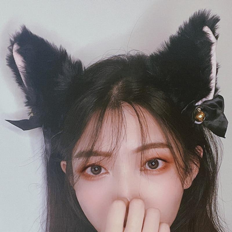 Cosplay Cat Ear Party Costume Bow Tie Bell Headwear Fahsion Masquerade Halloween Cat Ears Headband H