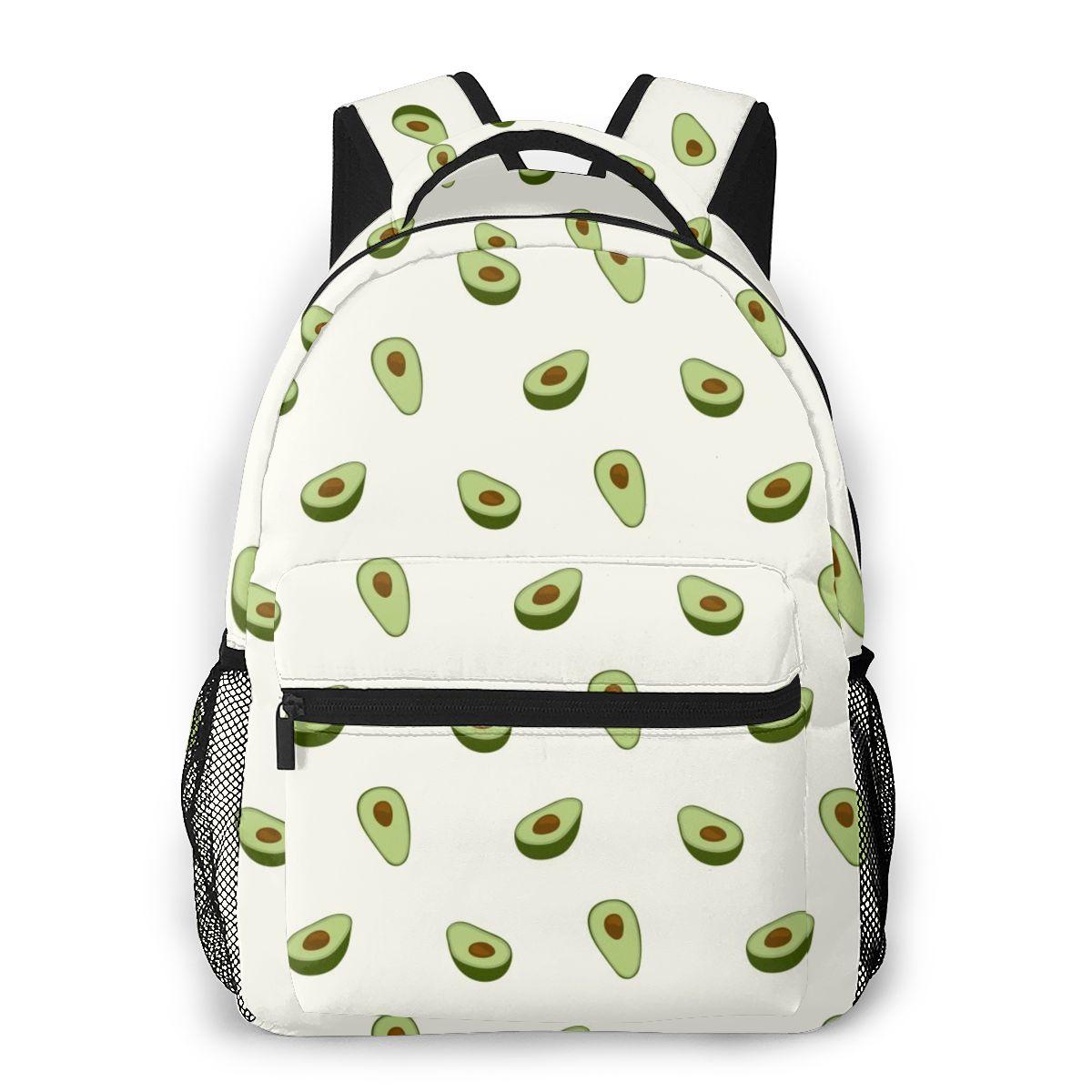 حقيبة كتف عصرية للنساء ، حقيبة مدرسية للمراهقين والأطفال ، حقيبة سفر بنمط الأفوكادو ، 2021