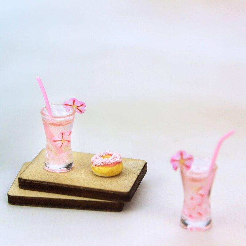 Diy ミニチュアドールハウスコーヒーカップミニ世界の人形アクセサリー 112 キッチンルーム食品ミニ桜のためのドリンク人形