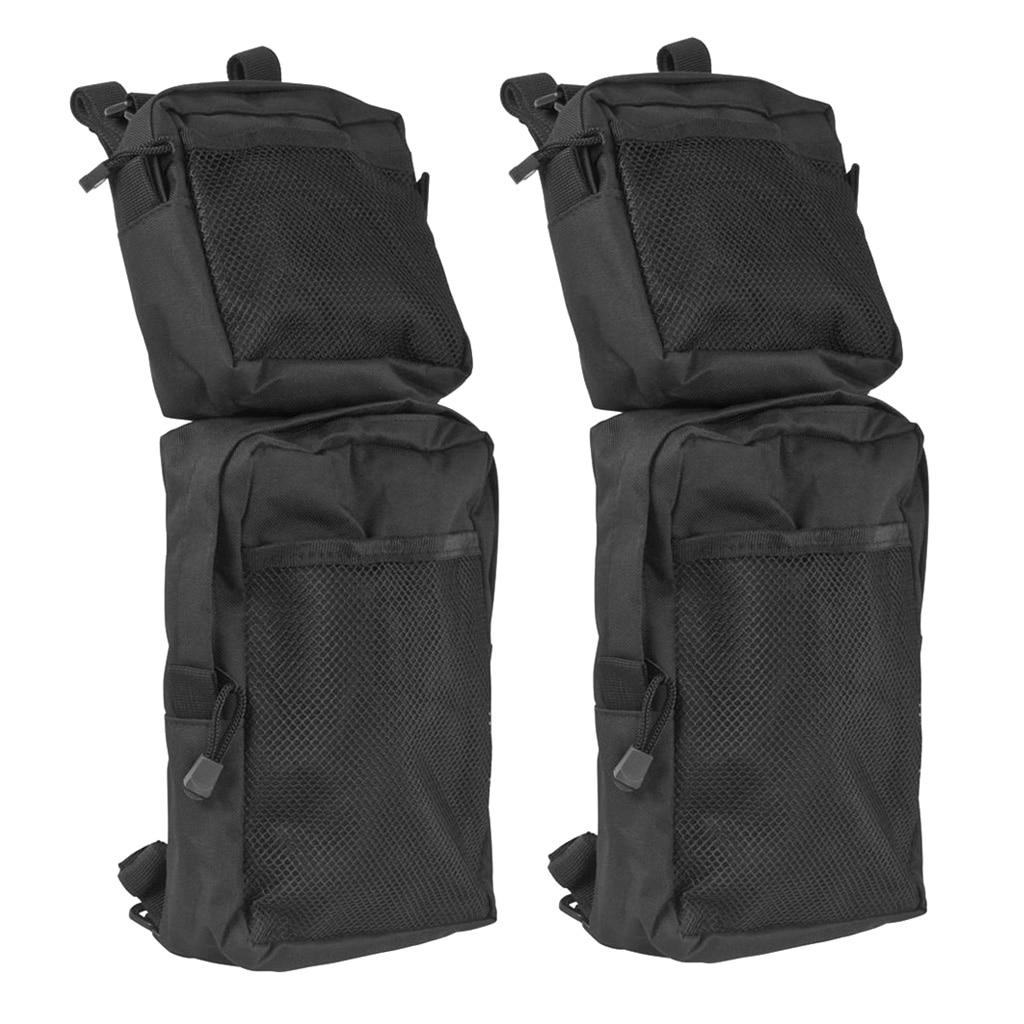 Black Waterproof ATV 600D Oxford Cloth Gas Tank Saddle Bags Water Bottle Bag