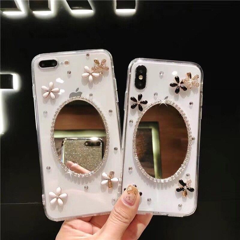 Caso para iPhone 11 XR 7 8 11 Pro Max X XS X Max Plus 6 6s Cubierta gliiter 3D conejo