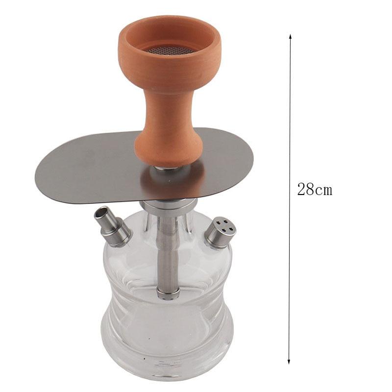 Height 28cm New arab Hookah Pipe Set Shisha Bowl Nargile Hose Charcoal Tray Metal Tongs Narguile Shisha Accessories enlarge