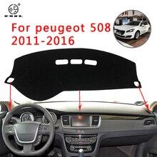 PNSL housse de protection anti - uv   Tapis de tableau de bord de voiture pour Peugeot 508-2011, protection solaire antidérapant