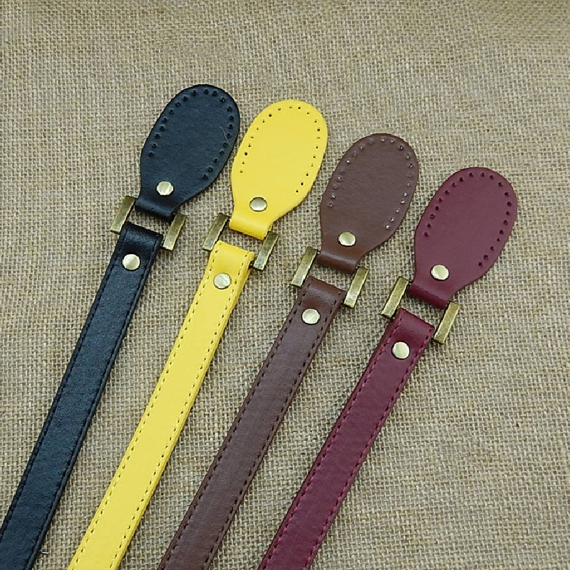 1 Pair Leather Obag Handles 58cm Bag Belt Accessories For Bags DIY Replacement Bag Handles Purse Strap Handbag Strap Bag strap
