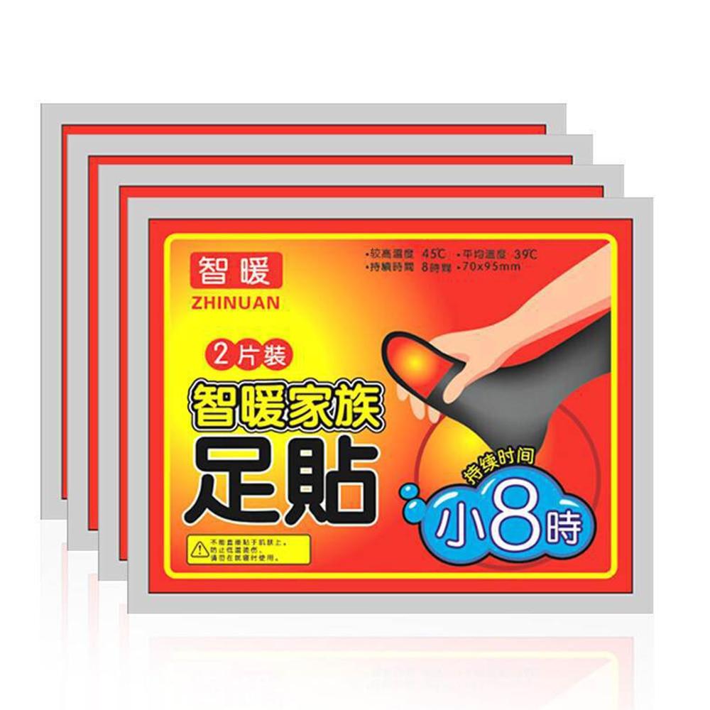 30 50 100 Uds invierno cuerpo pie caliente etiqueta engomada calor adhesivo parches Pie de mantener los pies calientes de paquetes de calor de larga duración parche