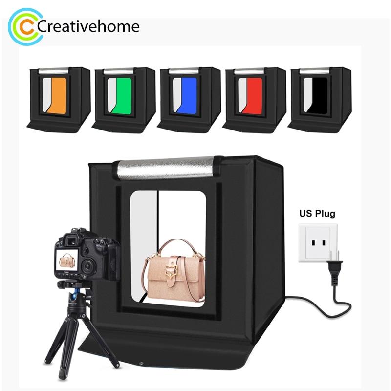 PULUZ 40cm pliant Portable 30W 5500K lumière blanche éclairage Photo Studio Kit de boîte de tente de tir avec 6 couleurs décors