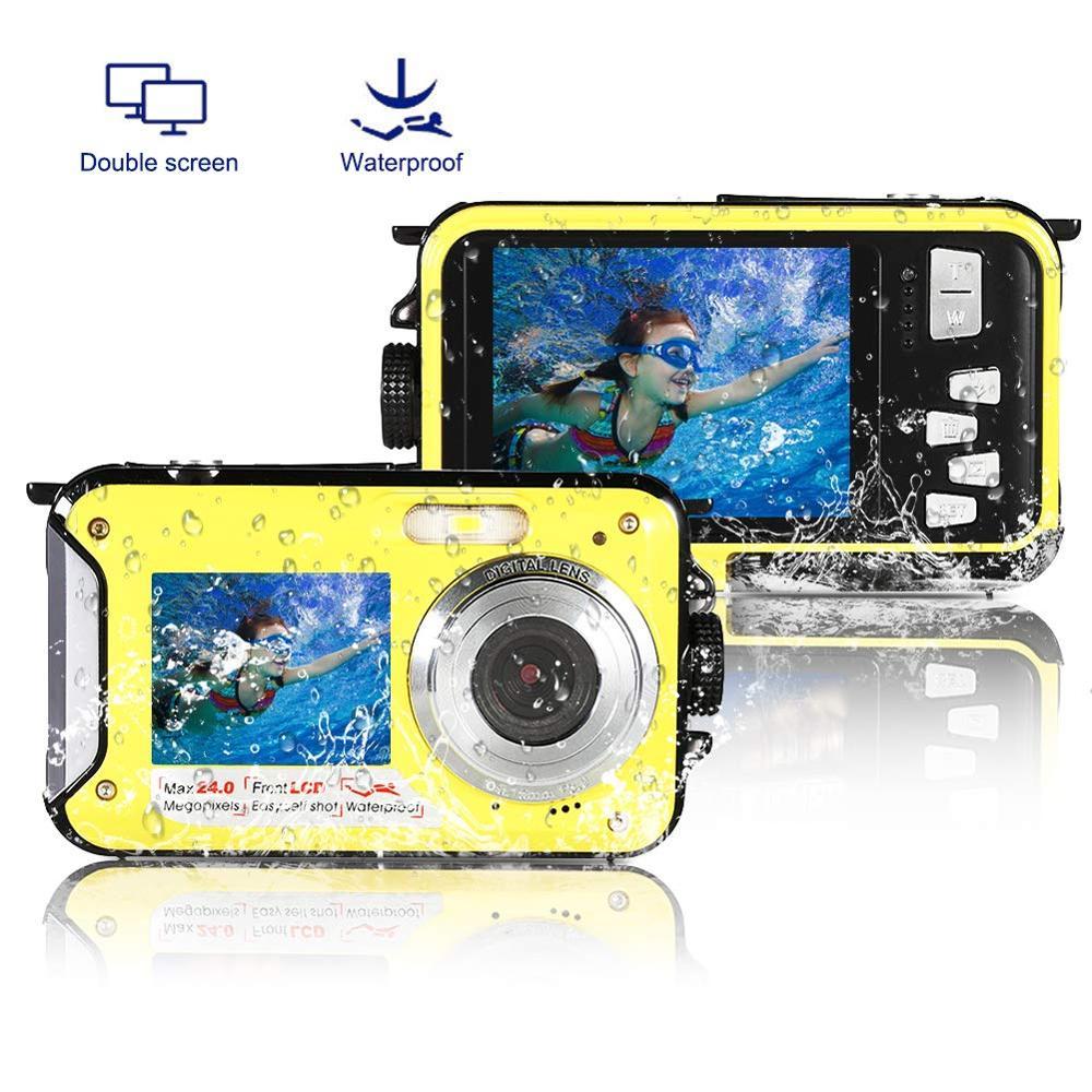 Professional Kids Digital Camera Underwater 10FT Full HD Video Consumer Camcorders For Boys Girls Waterproof Kamera Dual Screen