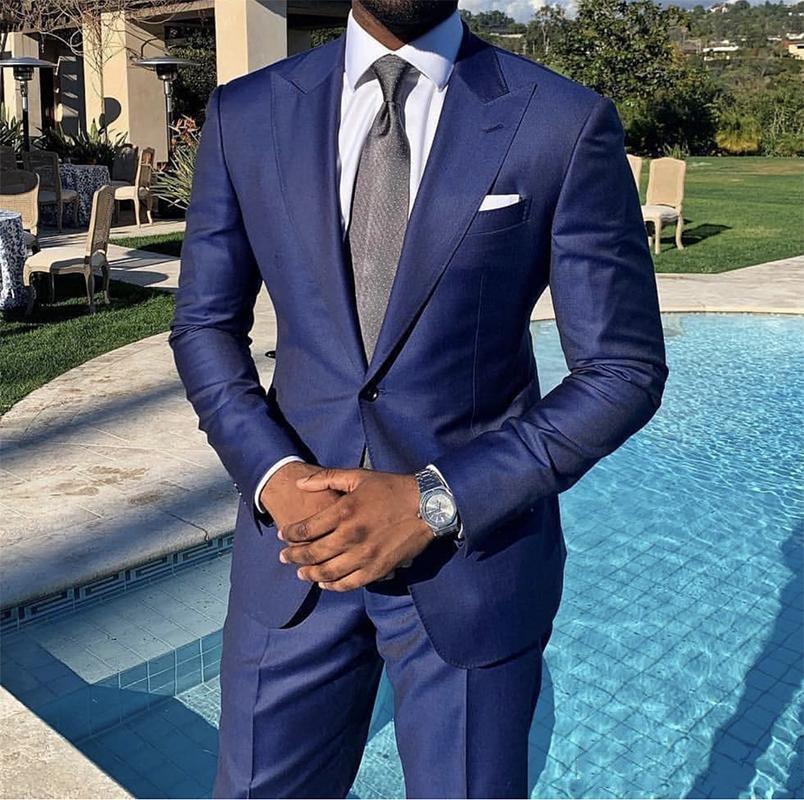 بدلة رجالية أنيقة بزر واحد ، بدلة زفاف ، وحفلات التخرج ، أفضل سترة للرجال (جاكيت + بنطلون + سترة ربطة عنق) 926