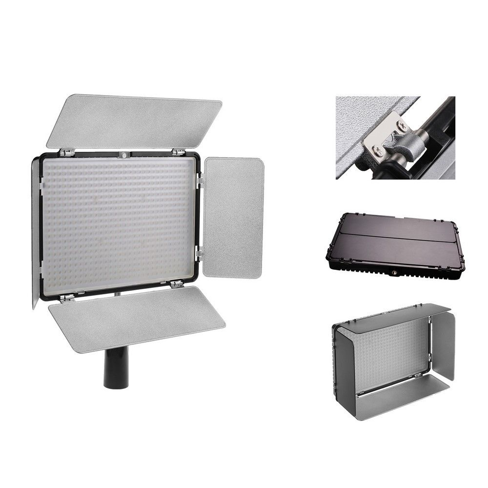 3200-5600K TL-600AS 600 مصباح LED للاستديو هات الفيديو الضوئي مصباح درجة حرارة اللون قابل للتعديل لنيكون D90 D3400 D5500 D7500 D800 D600
