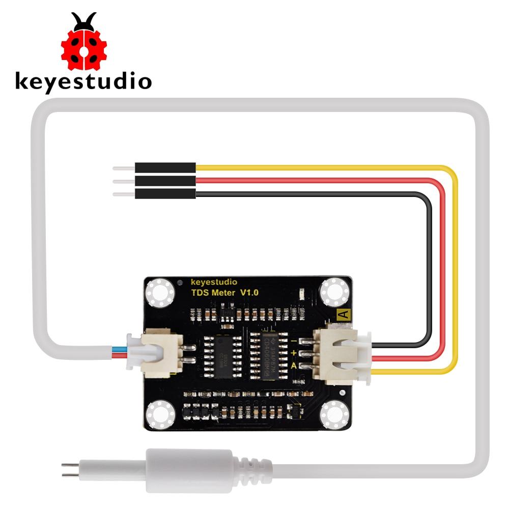 keyestudio TDS  Sensor Meter V1.0 Board Module Water Meter Filter Measuring Water Quality for Arduino Unor3