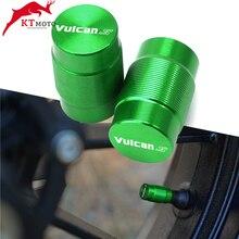 """Para kawasaki vulcan s 650cc 650cc motocicleta cnc accessorie roda válvula de pneus tampas da haste hermético logotipo """"vulcanos"""""""