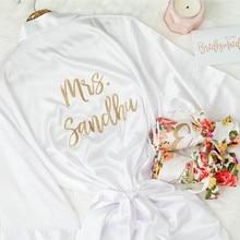 Custom Wedding Bride Robe, Personalized Bridal Robe, Getting Ready Bridesmaids Robe, Bachelor Party