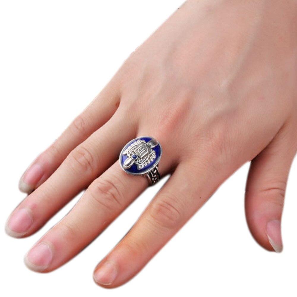 Nueva llegada 1 pcs1pc Vintage película Damon/Estefan Sun familia Crest anillos gran venta tamaño 17/18/19