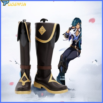 Game Genshin Impact Kaeya Cosplay Shoes Boots