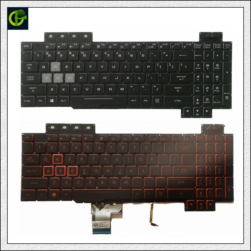 الإنجليزية الخلفية لوحة المفاتيح ل Asus TUF الألعاب FX505 FX505G FX505D FX505GD FX505GE FX505GM FX505DY FX505DV fx505dt لنا محمول