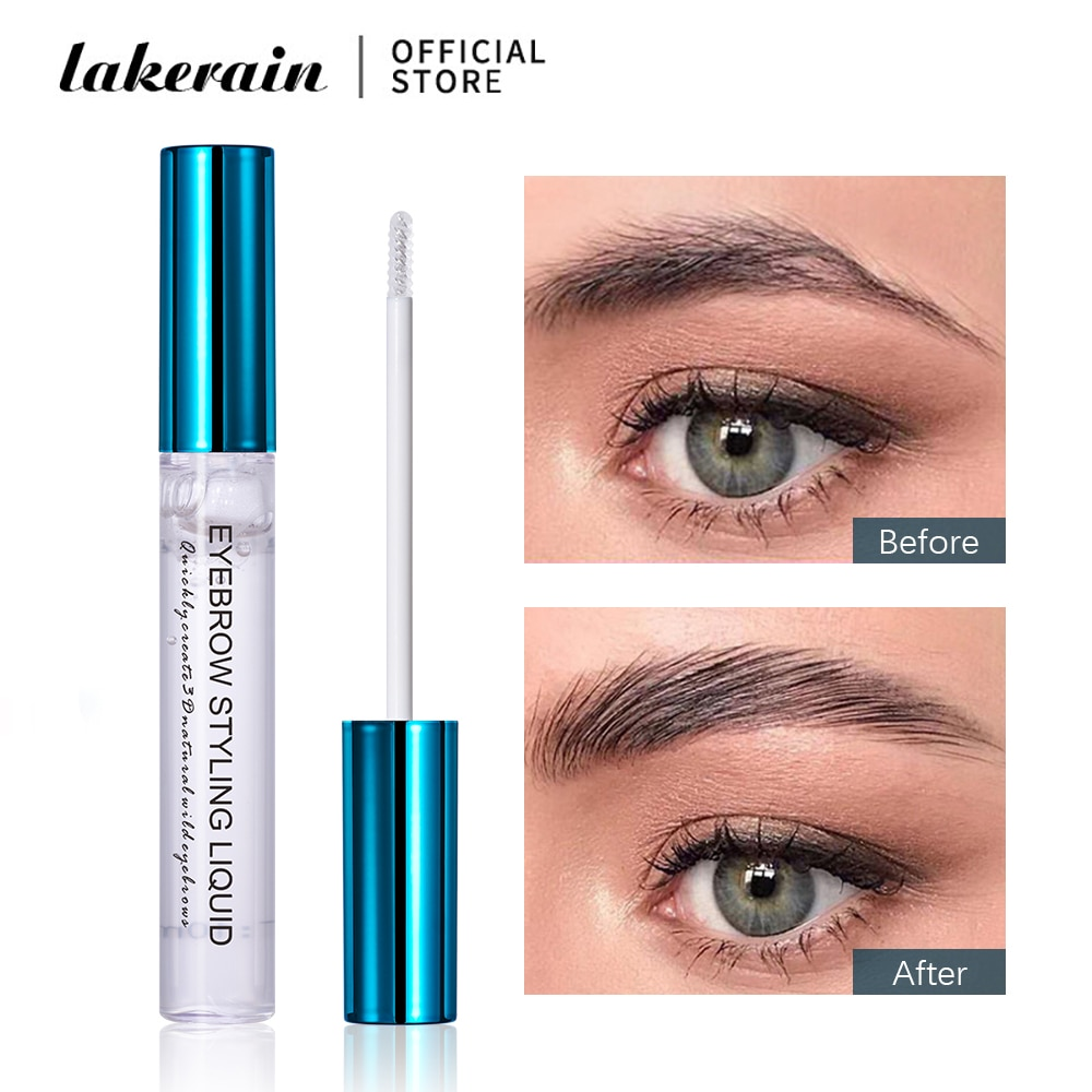 Lakerain 3D Liquid Eyebrow Styling Fluid Brows Makeup Lasting Setting Gel Waterproof Wild Tint Pomade Cosmetics