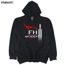 Falcon Heavy Rakete Starten Spacex Elon Moschus shubuzhi hoodie Freies Verschiffen Lustige Casual shubuzhi hoody sbz4496