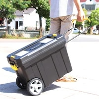 multifunctional suitcase toolbox pp plastic toolbox for home large plastic mobile tool box thickened with wheels