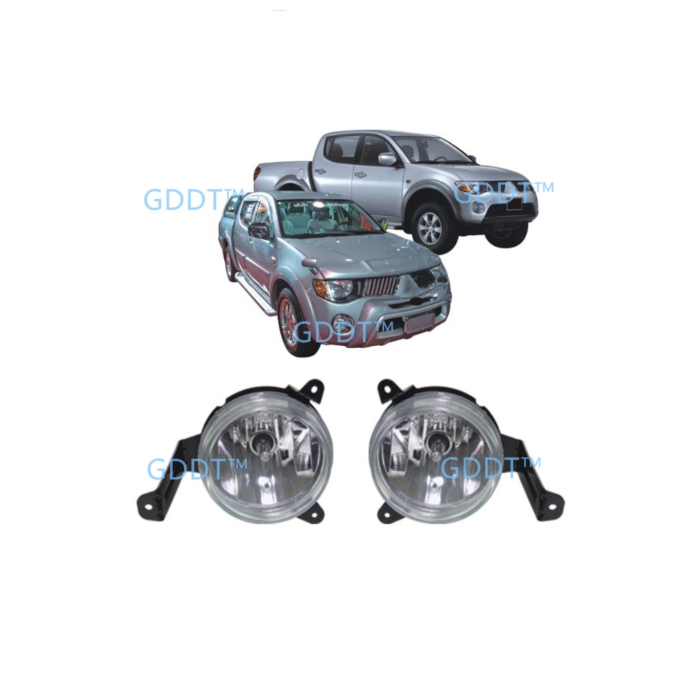 2006-2008 4 Doors Fog Lamp for L200 Full Set with Bulb Wire and Switch for Triton Fog Lights for Mitsubushi Pick Up