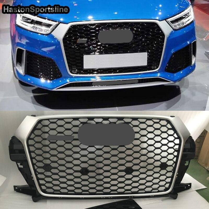RSQ3 نمط الجبهة الوفير شواء مصبغة لأودي Q3 SQ3 Sline 8 فولت 2016-2018 اكسسوارات السيارات التصميم