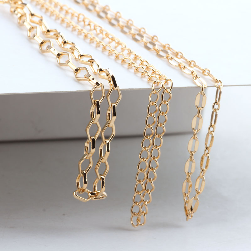 1meter Gold Necklace Chain  Ear Line Earrin Chains Diy Handmade Jewellery Findings Accessories