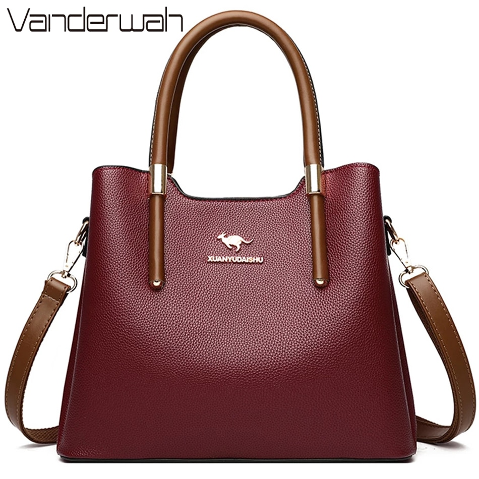 Leather Casual Crossbody Bags for Women 2020 Ladies Luxury Designer Tote Handbag Top-Handle High Quality Shoulder Bag Sac A Main